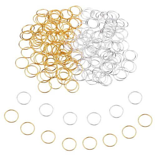 200 PCS Hair Braid Rings Accessories Clips for Women and Girls Dreadlocks Set Color Gold and Sliver -
