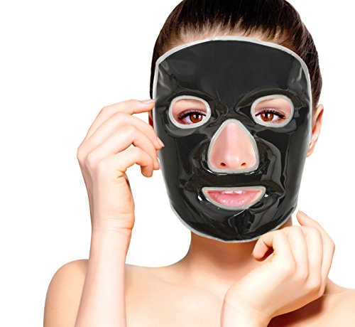 - Cold Clay Facial Ice Mask by FOMI Care | Cooling Face Mask for Acne, Swollen Face, Puffy Eyes, Dark Circles, Headache, Migraine, Sinus Relief | Fabric Backing | Natural Clay Filling (X-Large)