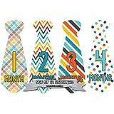 Months in Motion 705 Monthly Baby Stickers Necktie Tie...