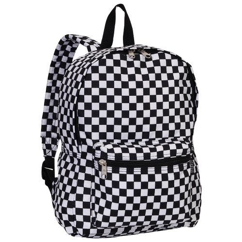 Everest Luggage Multi Pattern Backpack, Checkered, Medium (Board Bag Checker)