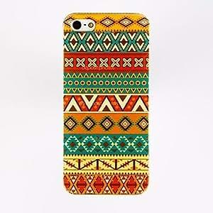 Mini - Yellow Stripe Special Design Pattern Polycarbonate Hard Case for iPhone 4/4S , Color: Multicolor