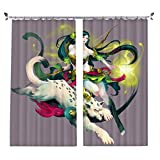 ZZHL Curtains Curtains,Hooks Rings Blackout Set Thermal Insulated Window Treatment Solid Eyelet Bedroom 2 Panels A8 (Size : 1.1x1.8m)
