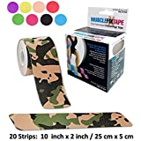 Kinesiology Therapeutic Tape Precut Roll   Recovery Sports Athletic Physio Therapy Injury Support   Elastic Breathable Cotton Water Resistant Strong Adhesive   Tendon Joint Ligament Muscle Pain Relief