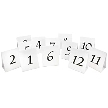 amazon 1 12 table number tent cards white with black calligraphy