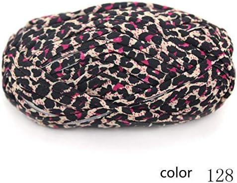 耐久性 毛糸 編み糸 花プリント 布 花布 ハンドクロッシェライン バッグ カーペットライン 1/0.3NM 1玉約100g 10玉セット 多色選択可 快適な (Color : Col 128, UnitCount : 10 balls)