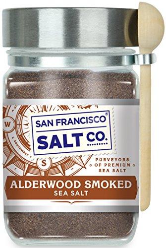 Alderwood Smoked Sea Salt (8 oz. Glass Jar)
