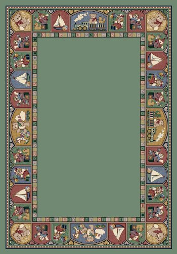 (Milliken Signature Collection Toy Parade Rectangle Area Rug, 3'10
