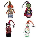 HORHIN Halloween Home Decoration,4PCS Doll Stuffed Toys Props Ornaments for Halloween Trick or Treat Party Office Yard Playground Hotel Supermarket Bar Atmosphere Decor