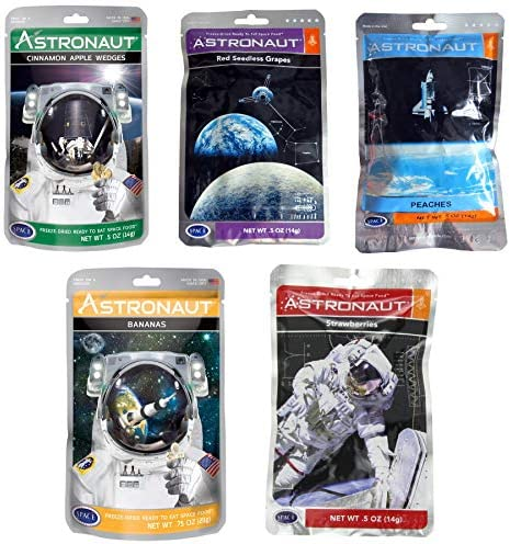 Strawberries NASA Astronaut Space Food Freeze Dried Ready To Eat Fruit Packet