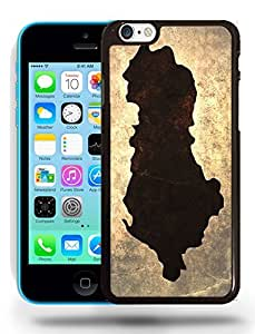 Albania National Vintage Country Landscape Atlas Map Phone Case Cover Designs for iPhone 5C