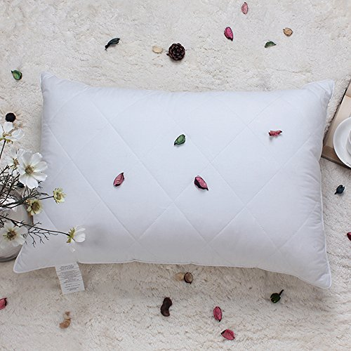 Pillow Cotton Fabric (Goose Feather Pillow King Size Bed Pillow for Sleeping (White,Firm Fill), Premium 100% Egyptian Cotton Fabric Hypoallergenic Feather Pillow (20x36 inches))