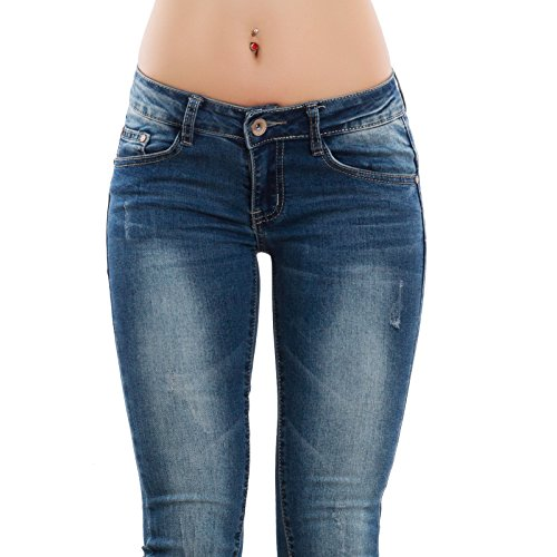 Blu Pantaloni Nuovi Bassa Elasticizzati Y0964 Vita Toocool Jeans Skinny Aderenti Donna qxEwFBvp