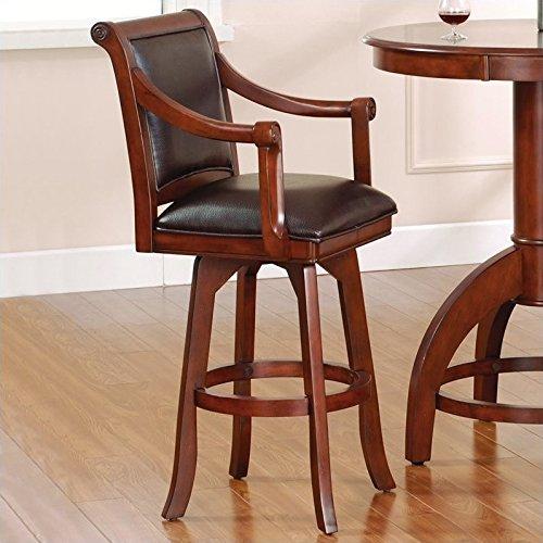 (Hillsdale Furniture Palm Springs Swivel Bar Stool Medium Brown Cherry)