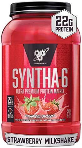 BSN SYNTHA-6 Protein Powder - Strawberry Milkshake, 2.91 lb (28 Servings)
