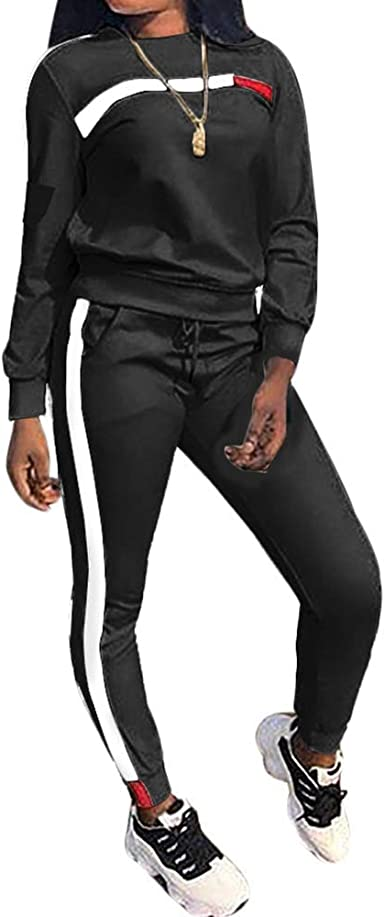 Chic To Max Womens Tracksuit Set 2pcs Plus Size Sports Outfits Long Sleeve Top And Bodycon Pants Jogging Suit Sweatsuits For Women Ladies Amazon Co Uk Clothing