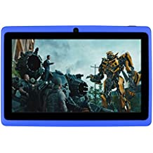 7Inches Tablet PC HD Touchscreen Mic WIFI Android 4.4 Octa Core Quad Core Tablet PC 8GB Dual Camera Wifi ,Support Games, Skype ,MSN ,Facebook, Twitter, etc (Blue)