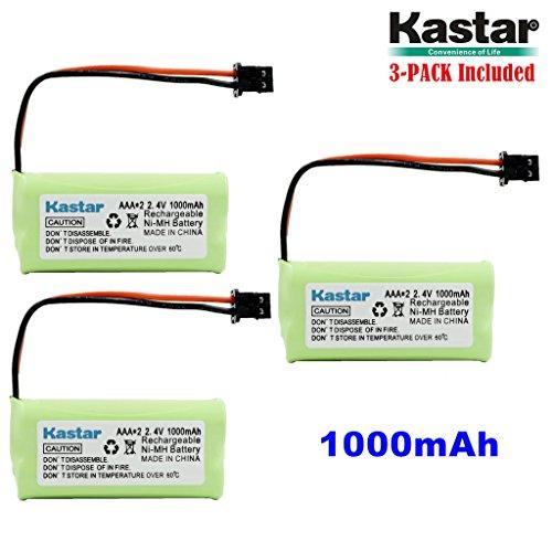 Kastar 3-PACK AAAX2 2.4V MSM 1000mAh Ni-MH Rechargeable Battery for Uniden BT-1008 BT-1016 BT1008S DECT20602 DECT 2080 DECT 2060-2 DWX-207 DECT20854WX DECT21802 Dantona BATT-1008 Empire (2w Dect Cordless Phone)