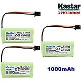 Kastar 3-PACK AAAX2 2.4V MSM 1000mAh Ni-MH Rechargeable Battery for Uniden BT-1008 BT-1016 BT1008S DECT20602 DECT 2080 DECT 2060-2 DWX-207 DECT20854WX DECT21802 Dantona BATT-1008 Empire CPH-515B