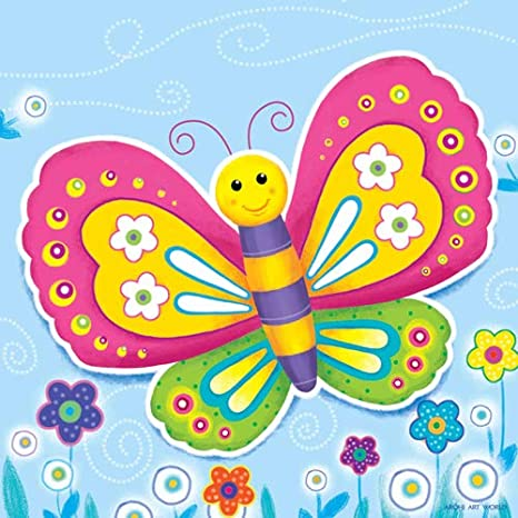 Arohi Art World, Butterfly Painting for Kids Room Wall Decor ...