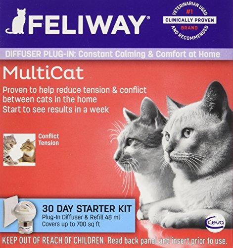 Ceva Animal Health D89410b Feliway Multicat Starter Kit  48Ml
