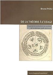 De la théorie à l'usage : Essai de reconstitution du système de la métrique arabe ancienne