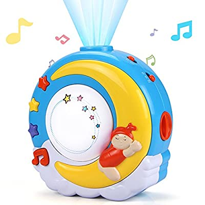 AIVN Baby Sleep Soother with 16 Musical Lullaby Sound Machine & Night Light & Projector &Baby Gifts