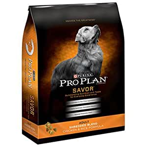 Purina Pro Plan Savor Adult Shredded Blend Chicken & Rice Formula Dog Food, 35 lb. Bag