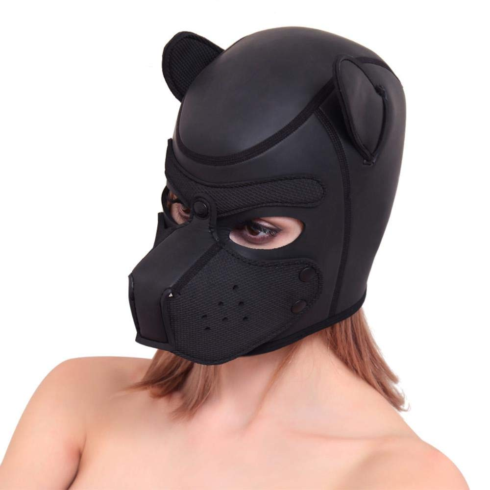 Naomei SM Sex Toy Breathable Dog Head Mask BDSM Bondage Couples Flirting Cosplay Adult Games Products Sex Shop,Blue