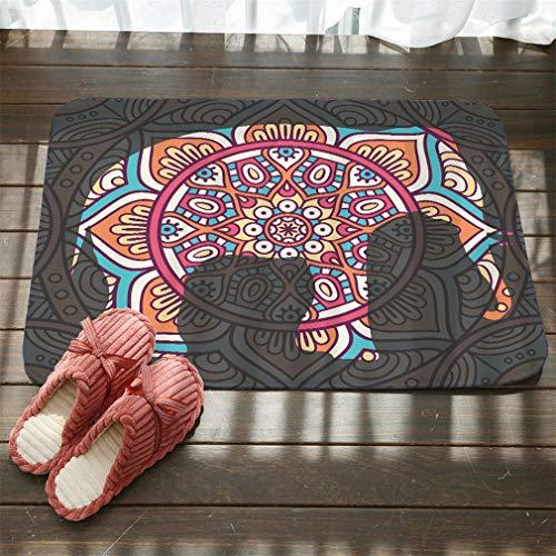 - Nunubee Ethnic Style Animal Totem Printing Flannel Non Slip Entrance Rug Doormats Soft Carpets Rugs Patio Kitchen Home Indoor Outdoor Bedroom Carpet 20x31 Inch / 50x80 cm - No.2