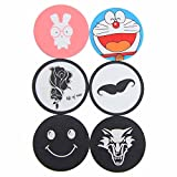 inDomit Metal Plate Sticker for Popsocket Holder and Car Magnetic Cradle-less Mount with Strong Adhesive [6 Pack]