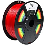 WYZworks 3D Printer Filament 1.75mm PLA Thermoplastic Polylactic Acid 1kg 2.2lb [ Rainbow Multi Color ] Supplies WYZworks