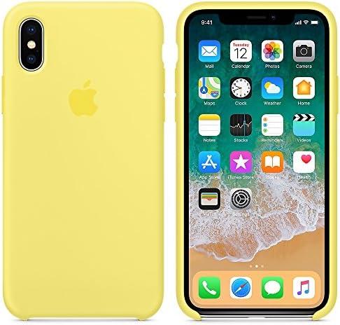 El último Verano Funda iPhone X, Slim Líquido de Silicona Gel ...