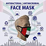 UAE Flag Face Mask - 100% Cotton Antibacterial & Antimicrobial