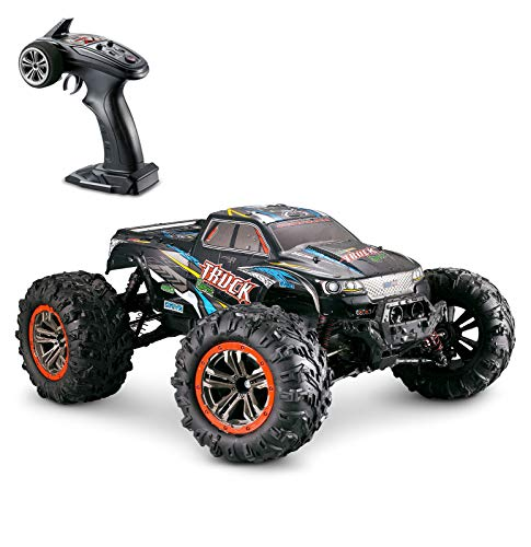 (Hosim Large Size 1:10 Scale High Speed 46km/h 4WD 2.4Ghz Remote Control Truck 9125, Radio Controlled Off-Road RC Car Electronic Monster Truck R/C RTR Hobby Grade Cross-Country Car (Blue))