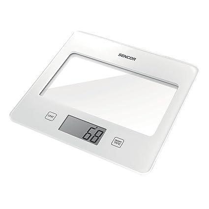 Sencor SKS 5020WH Báscula electrónica de cocina Blanco - Báscula de cocina (Báscula electrónica de
