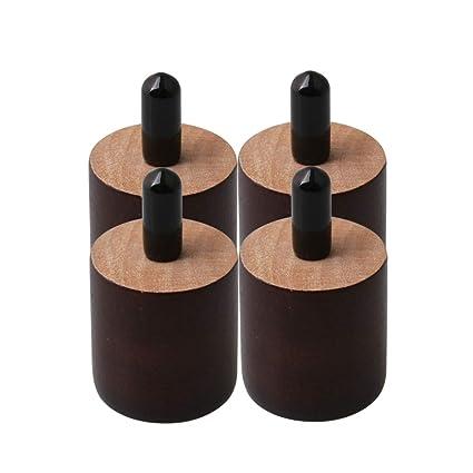 BQLZR - Patas redondas de madera para muebles, 38 mm de ...