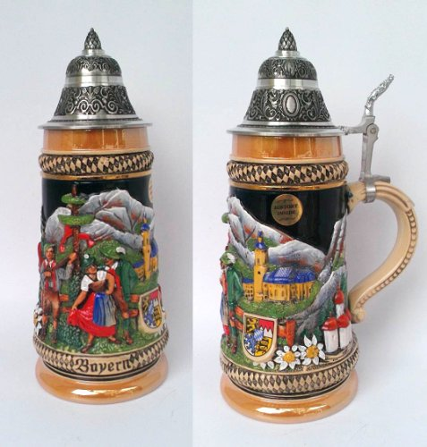 King-Werks - Thewalt 1893 Bayern .5 Liter German Beer Stein (Model 1720)