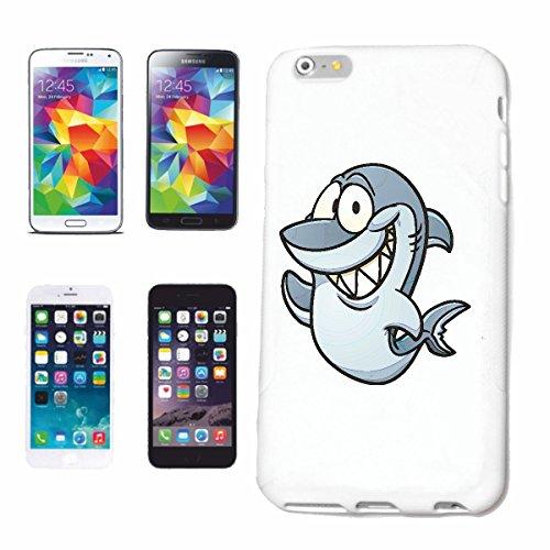 """cas de téléphone iPhone 6+ Plus """"RIRE SHARK WHITE HAI EMOTION Megalodon BLEU SHARK Hammerhai récif blacktip whalesharks requin mako"""" Hard Case Cover Téléphone Covers Smart Cover pour Apple iPhone en b"""