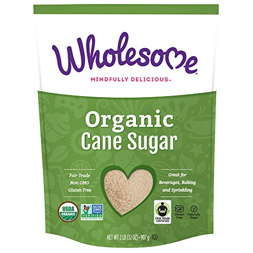 Flavored Cane - Wholesome Fair Trade Organic Cane Sugar, Naturally Flavored Real Sugar, Non GMO & Gluten Free, 2 lb (Pack of 6)