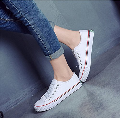 Low White Women Shoes Lace Sneaker 02 Casual Amint Sports Men Cut Trainers Ups Canvas Fashion Shoes for Unisex and HTpdASq