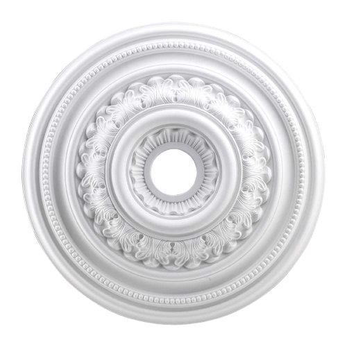Elk M1012WH English Study Ceiling Medallion, 24-Inch,  White Finish by ELK