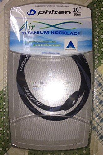 - Phiten Air Titanium Necklace, Black, 20-Inch