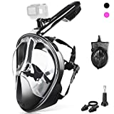 ZIPOUTE Snorkel Mask Full Face, Full Face Snorkel Mask Adult and Kids