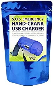Emergency Power USB Hand Crank SOS Phone Charger Camping Backpack Survival Gear Cell Radio Light