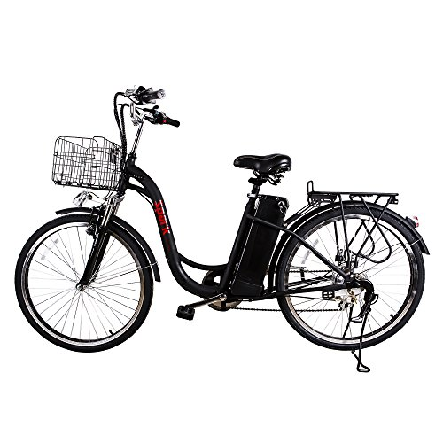 NAKTO 26'' City Electric Bicycle Ebike with 36V 10Ah Lithium Battery for Women