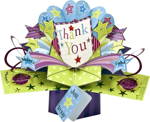 1 X THE ORIGINAL POP UPS - 017 - THANK YOU [Office Product] (Thank You Note For Fruit Basket)