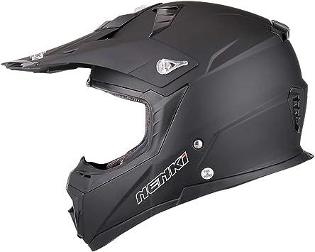 NENKI Motocross Quad Bike Helmet NK-316 for Adults/ Matt Black, M