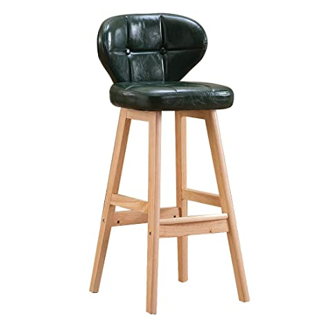 Magnificent Gy Solid Wood Bar Stool Counter High Stool High Back Dailytribune Chair Design For Home Dailytribuneorg