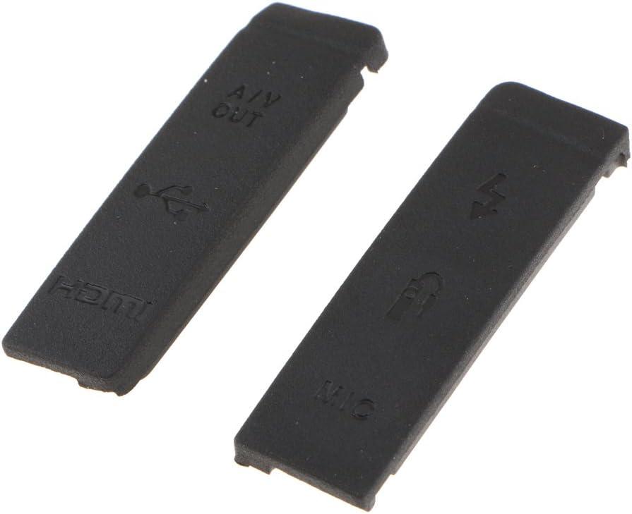 Repuesto para Canon EOS 5D2 5D Mark II USB HDMI DC IN Salida de Video para Puerta de Goma Negro