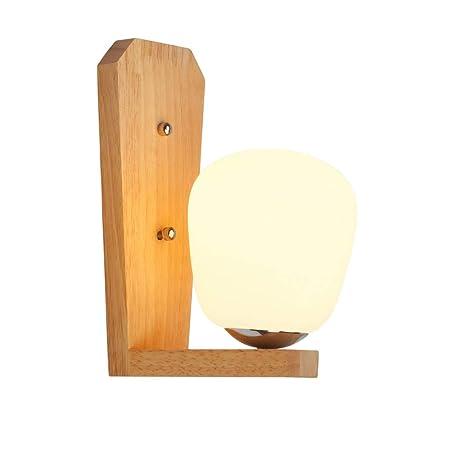 Modenny LED de Madera Maciza Pantalla de Cristal lámpara de Pared ...